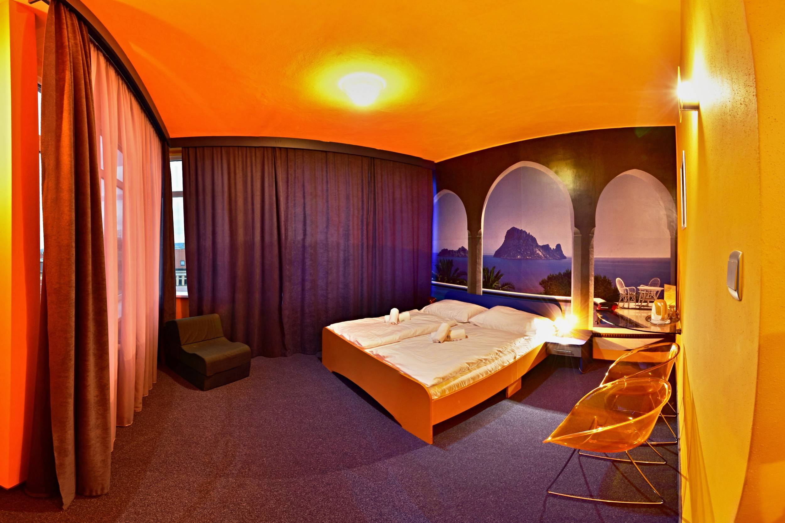 Standard room Hote Liberec - Blue & Orange